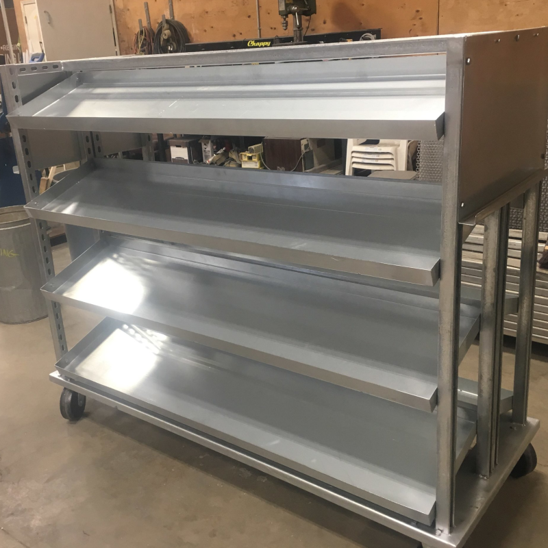 ALUMINUM PARTS SHELVING