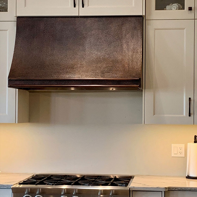 CUSTOM COPPER RANGEHOOD